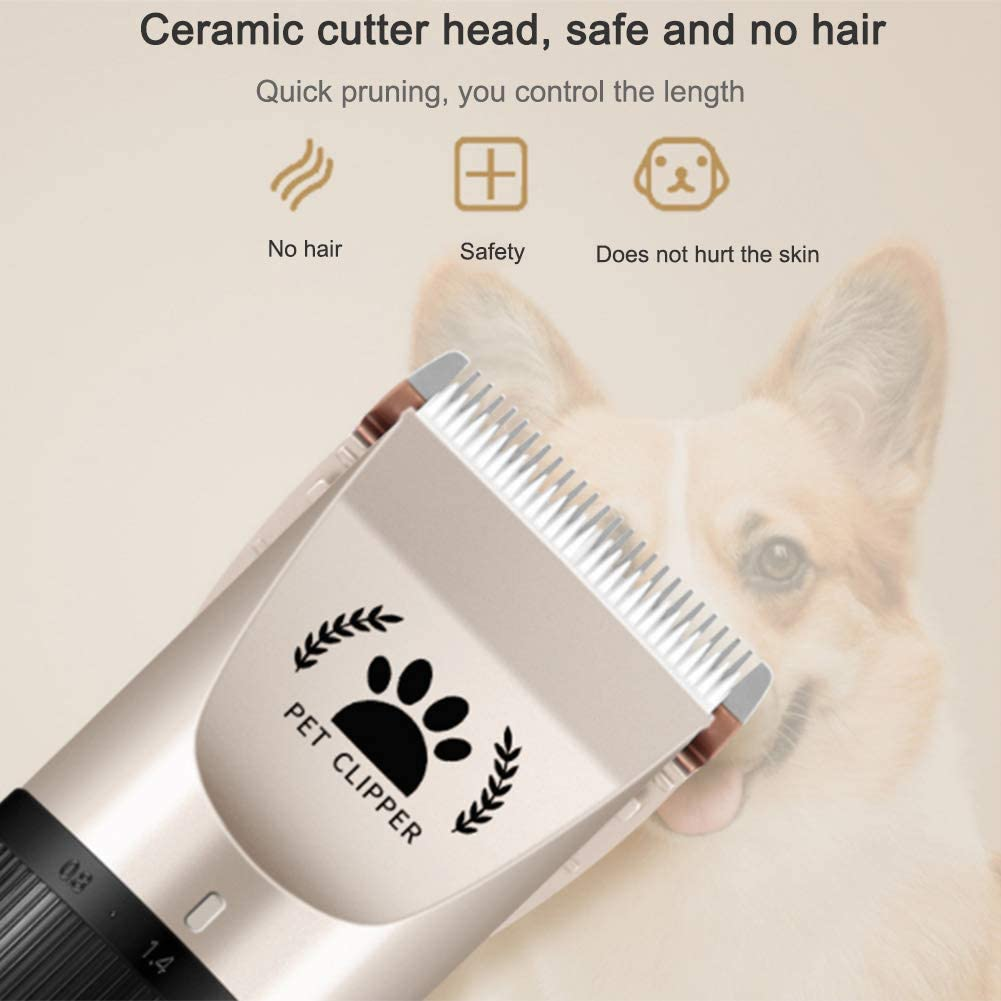 TRAINER SECRET Dog Shaver Cats Horse Grooming Kit Clippers Rechargeable Cordless Dogs Electric Quiet Pet Hair Clippers Set for Dogs Cats Horses Pets