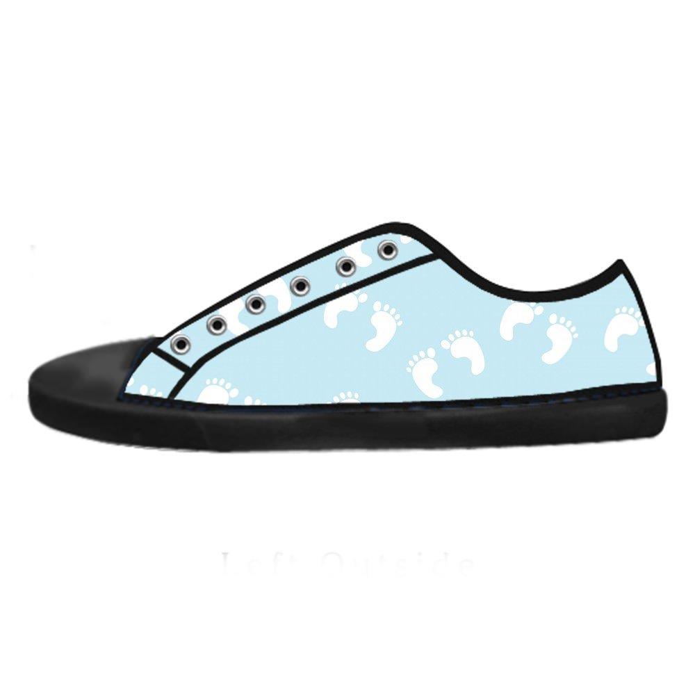 Cool Men schuhe Herren Herren schuhe Schuhe, Classic, Low-Top, schwarz, Fußabdruck-Design 851115