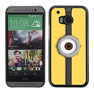 """For HTC One ( M8 ) , S-type Reloj del ojo"""" - Arte & diseño plástico duro Fundas Cover Cubre Hard Case Cover"""