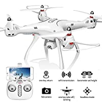 XFUNY Syma X8Pro FPV RC Quadcopter with 720P Camera Live Video 2.4GHz 6-Axis Gyro Drone with WiFi HD Camera, GPS Return Home, Altitude Hold, Headless Mode, 2 Battery by XFUNY