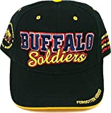 Buffalo Soldiers Commemorative S3 Mens Cap [Black - Adjustable]