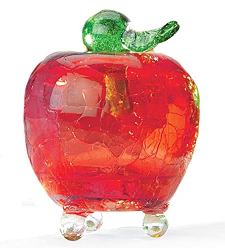 Plow & Hearth Handmade Crackle Glass Apple Fruit Fly Trap...