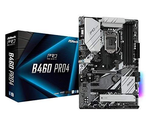ASROCK B460 PRO4 Supports 10th Gen Intel Core. Processors (Socket 1200) Motherboard