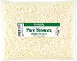 Stakich Pure White Beeswax Pellets - 100% Natural, Cosmetic Grade, Premium Quality - 2 LB (in 1 LB Bags)