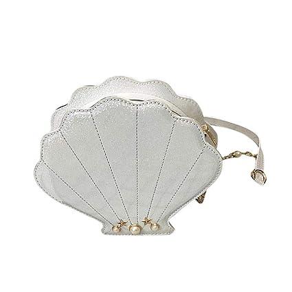 c8d9904da14b Amazon.com: MOGOI Latest Shell Pearl Shoulder Bags, Novelty Cute ...
