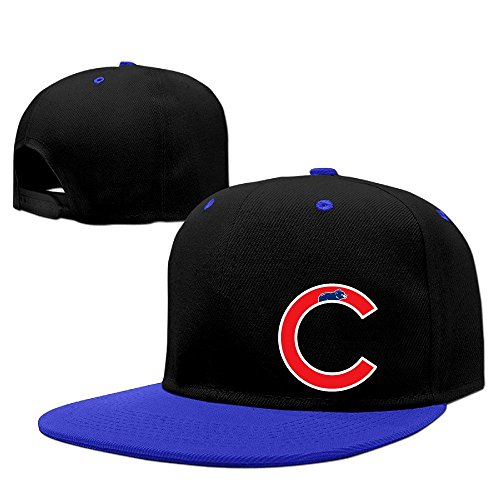Custom Unisex Chicago C Logo Flat Brim Baseball Cap Hats - Jackets Custom Lululemon
