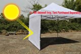 ABCCANOPY 15+Colors 10' Sun Wall for 10'x 10' Straight Leg pop up Canopy, 10' Sidewall kit (1 Panel) with Truss Straps, (White)