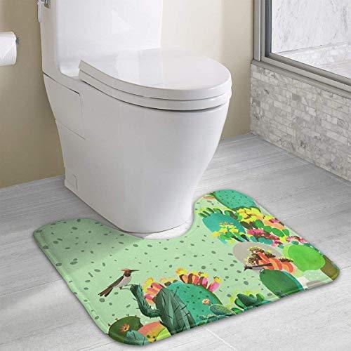 Beauregar Cactus Cute Bath Mat Toilet Carpet Doormats Floor Mat for Bathroom Toilet Nonslip Toilet Floor Mat 19.2″x15.7″