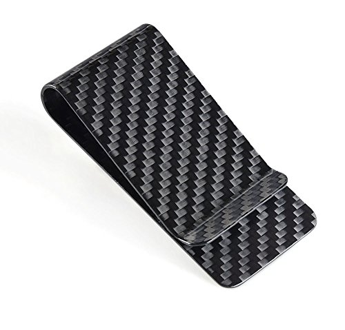 CL Carbonlife(TM)  Carbon Fiber Glossy Money Clip Credit Card Business Card Holder Black
