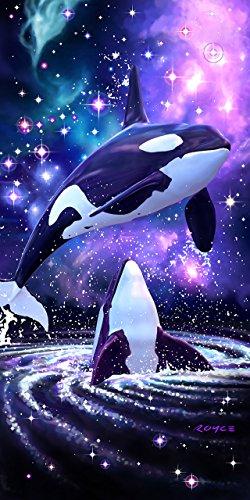 KAUFMAN - Space Orcas Printed Beach Towel by ROYCE