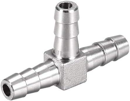 Accesorio para manguera 6 mm de acero inoxidable con forma de T Sourcingmap