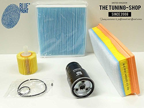 Service Kit 1.4 D-4D Air Fuel Cabin Oil Filters Blue Print New: