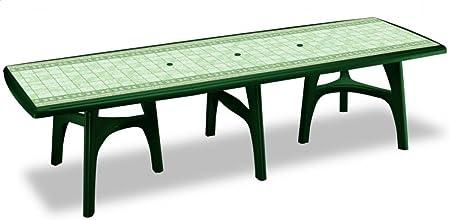 Tavoli Allungabili Da Giardino In Plastica.Ideapiu Tavoli Esterno Tavoli Allungabili In Plastica Verde Con