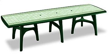 Tables extérieur 500 cm, pieds télescopiques Table en plastique 5 ...