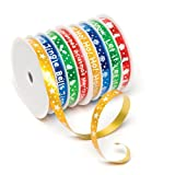 Festive Ribbon Spools in 8 Assorted Ribbon Designs - Christmas Arts & Crafts Decorations and Gift Wrapping (Pack of 2)