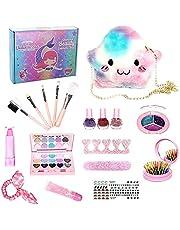Xuanshengjia Make-up kit voor meisjes, kindermake-up speelgoed set leuke spelletjes voor kleine meisjes beste cadeau, veilig en niet-toxisch doen alsof cosmetica speelgoed make-up speelgoed leeftijd 3 4 5 6 7 make-up kit