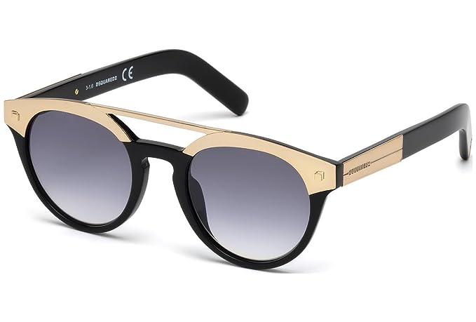 Dsquared2 DQ0235 01B 49 Monturas de gafas, Negro Lucido ...