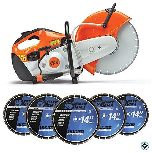 stihl-ts420-gas-cut-off-saw-plus-5-diamond-blades-14-inch-10mm