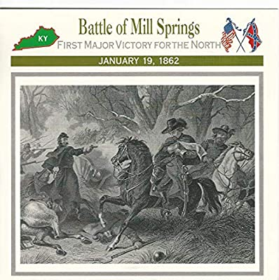 1995 Atlas, Civil War Cards, 28.04 Battle of Mill Springs, Kentucky, Zollicoffer