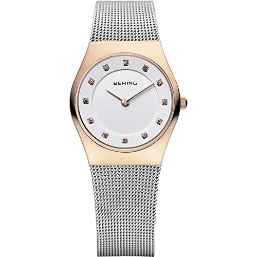 BERING Time 11927-064 Women's Classic Collection Watch with Mesh Band and scratch resistant sapphire crystal. Designed in Denmark.