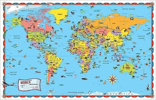 Rand mcnally world map rand mcnally and company 0070609852614 rand mcnally world map rand mcnally and company 0070609852614 amazon books gumiabroncs Choice Image
