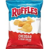 Ruffles Cheddar And Sour Cream Potato Chips, 24.3 Ounce