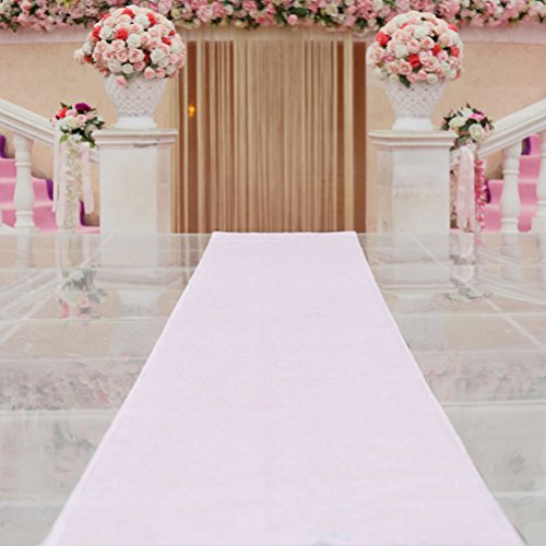 TRLYC 4ftx16ft Sequin Floor Aisles Runner for Wedding Wedding Aisle Runner-Iridescent