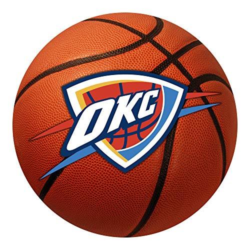 FANMATS NBA Oklahoma City Thunder Nylon Face Basketball Rug (Area Okc Rugs)