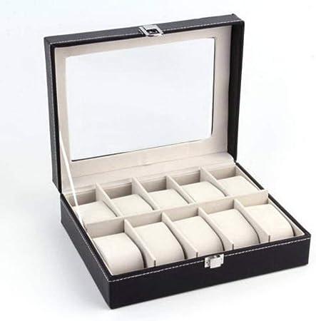 GOVD Caja Relojes Mujer PU Cuero Caja Joyero para Guardar Relojes para Relojes 10: Amazon.es: Hogar