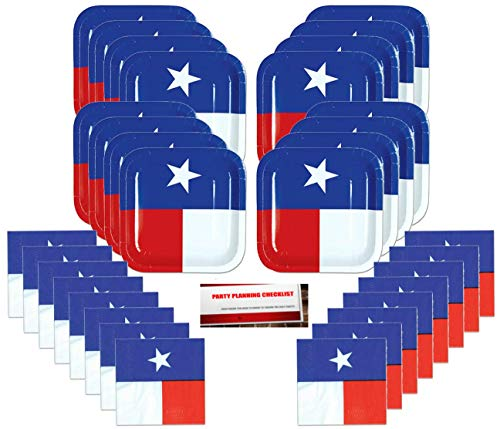 Texas Lone Star Party Supplies Bundle Pack for 16 (Plus Party Planning Checklist by Mikes Super - Texas Party Supplies