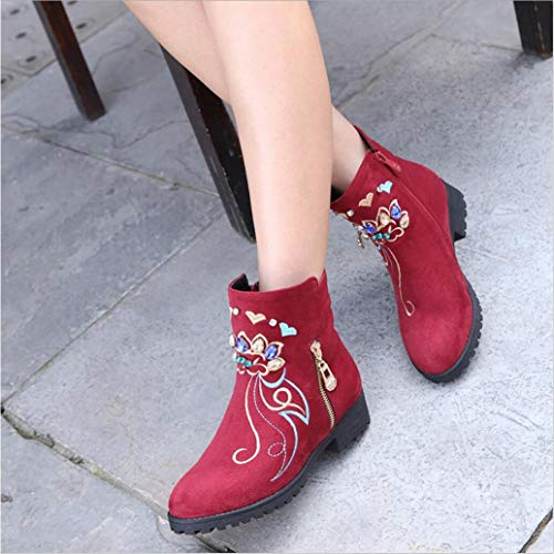 Women's XUE Boots Ankle Booties Winter Formal Boots Platform BootsFlat National A shoes Shoes Leatherette Boots Shoes Heel Boots Flat Wind Shoes Fashion Single dwxrgw0