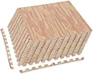 HOMCOM Soft EVA Foam Interlocking Floor Mats 96 Square Feet Exercise Workout Mat Kid Play Mat 24pcs