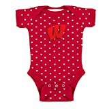 Two Feet Ahead Wisconsin Badgers NCAA College Newborn Infant Baby Heart Creeper (12 Months)