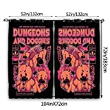 Dungeon and Doggies Curtains 52 X 72 Inch Length