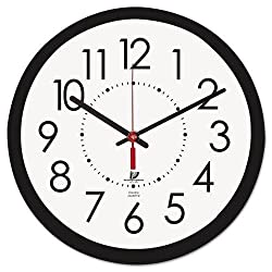 5COU Chicago Lighthouse 67801103 Electric Contemporary Clock, 14-1/2-Inch, Black