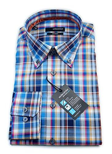 Seidensticker Herren Langarm Hemd Splendesto Regular Fit Button-Down-Kragen mehrfarbig kariert 386672.15