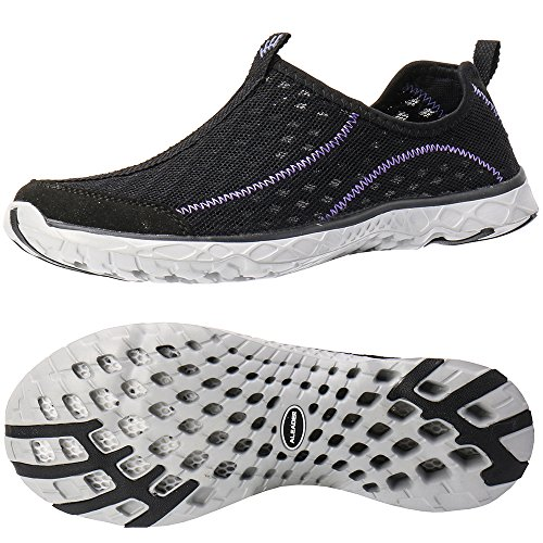 purple Mesh Black Women's Shoes Slip Water Aleader On xzw0FqOFA