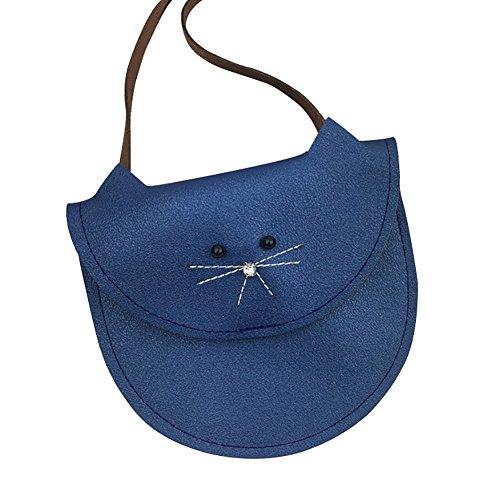 sintética Niñas 5x12cm Pequeños Bolso 16 yo Vi y Pequeñas de Piel Hombro Niños Azul Gris para CARnnwqP