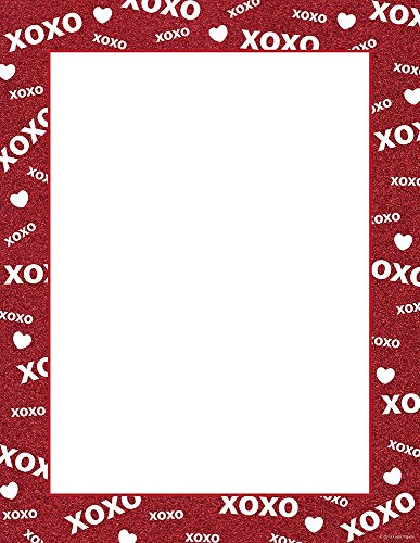 "Great Papers! Xoxo Sparkle Letterhead, 80 Count, 8.5""x11"" (2013228)"