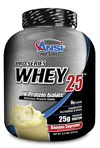 ANSI – Pro-Series Whey Protein Isolate 25, 5lb (2270g) (Banana)