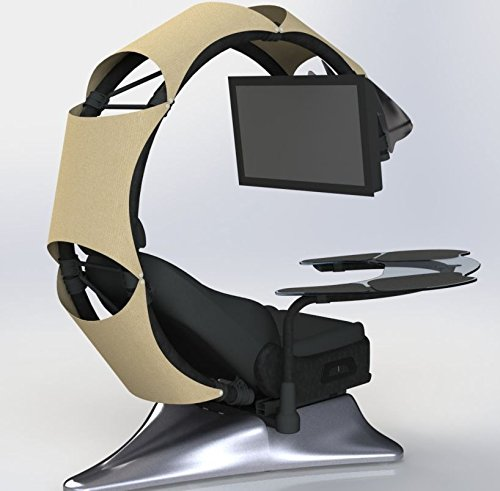 51BmAQv6e6L - Pre-order(Order leadtime : 4 weeks after order) Drian Workstation Game Chairs IT & Furniture Converged Gaming chair For office and Home and Game(Organic Beige)For Single Monitor & Right door direction