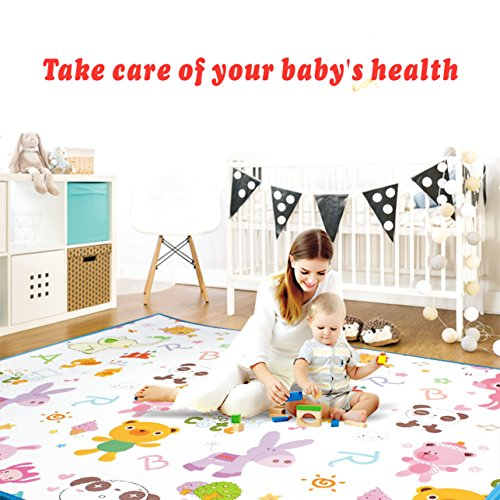 Play mat baby Care Foam Floor Gym Slip Reversible Waterproof playmat Portable...