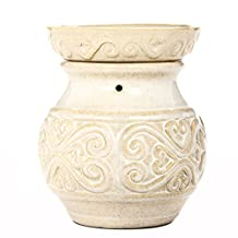 """Hosley's 6"""" High Cream Ceramic Electric Candle Warmer. Ideal gift for wedding, spa and aromatherapy. Use with HOSLEY brand wax melts / cubes, essential oils and fragrance oils."""