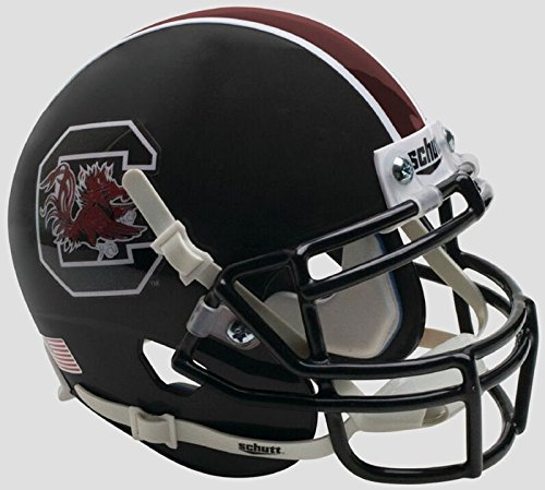 South Carolina Replica Helmet - NCAA South Carolina Gamecocks Mini Authentic XP Football Helmet, Matte Black Alt. 2, Mini