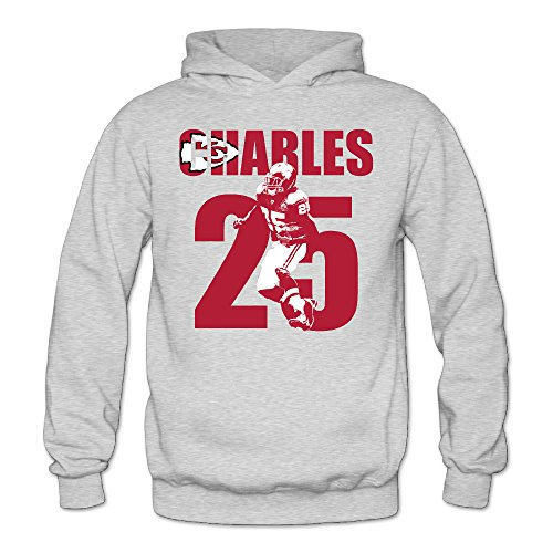 XJBD Women's Jamaal Charles Kansas City Team Novel Hoodie Ash Size S - Party City Ash Costume