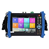Wsdcam 7 Inch Retina Display IP Camera Tester CCTV Tester CVBS Analog Tester with DMM/POE/IP discovery/Rapid ONVIF/WIFI/8G TF Card/4K H.265/HDMI In&Out/RJ45 TDR/Firmware Update Upgraded 8600M-Plus