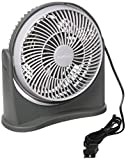 Premium PFF082 8 Inch Floor or Desk Table Fan, Portable Air Blower, Quiet Home Air Circulator, Black