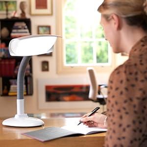 Lumie DESKLAMP – SAD Light Therapy and Task/Reading lamp