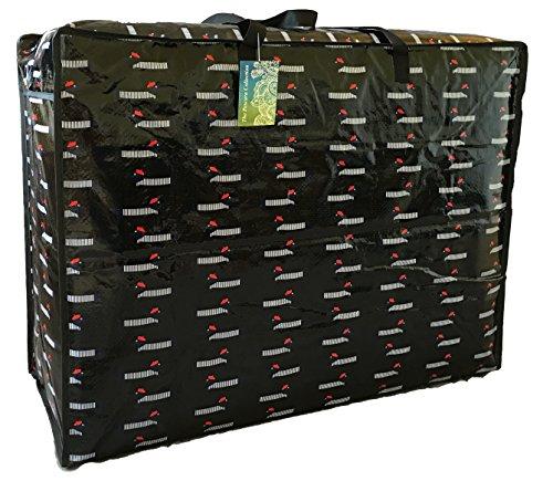 Extragrosse schwarzer Aufbewahrungstasche 115 Liter. Dachshund in Barette Muster. Spielzeug, Waschen und Wäschesack