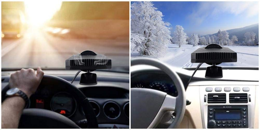 port/átil descongelador de Parabrisas de Invierno Queta 2018 versi/ón Calentador de Coche Calentador de Coche para Coche 12 V-200 W Furgoneta Ventilador de refrigeraci/ón descongelador